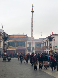 Tibet - Lhasa circle around monastery