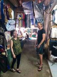Local market in Vinh